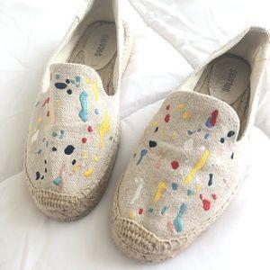 """Soludos splatter """"paint"""" Platform Loafer"""